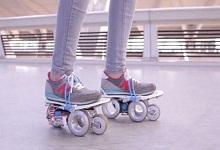 代步工具也玩智能?法公司推智能滑板鞋Rollkers