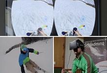 Oculus Rift虚拟现实眼镜 与滑雪选手同台竞技