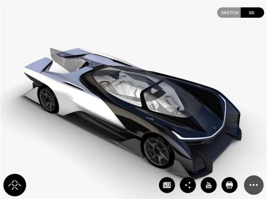 惊曝法拉第未来电动汽车概念图 超炫酷