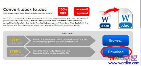 """点击""""Download""""下载转换成功的Doc文件"""