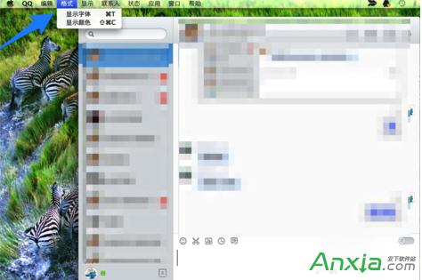 qq,qq字体颜色怎么改,qq聊天字体颜色,Mac版QQ字体大小颜色怎么设置