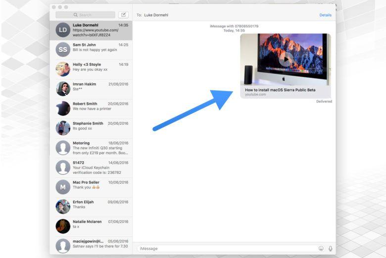 macOS Sierra系统中如何在信息中播放视频