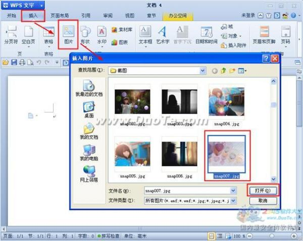 wps文字插入来自文件图片   三联