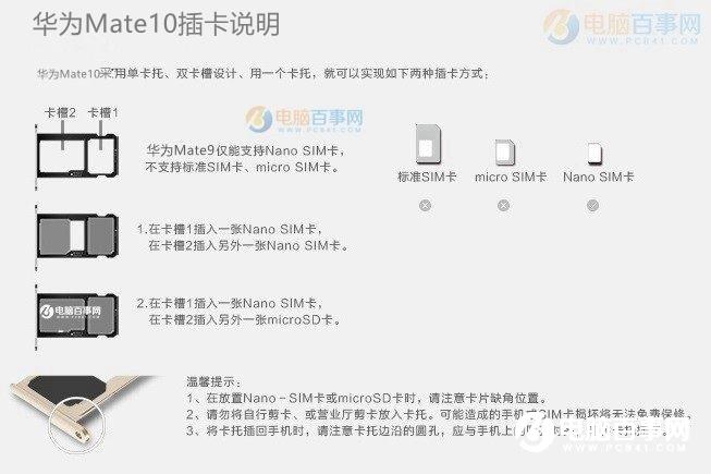 华为Mat10怎么装卡/插卡?华为Mate10 SIM卡安装教程