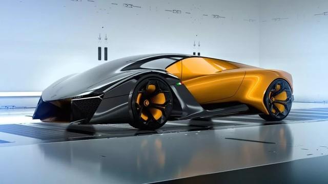 兰博基尼纯电超跑Belador概念车曝光 采用双色设计