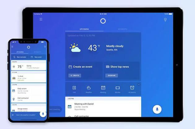两大巨头终合体 微软小娜将原生支持苹果iPad