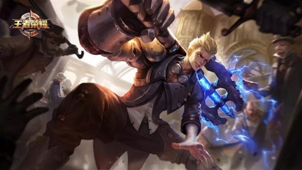 《王者荣耀》新英雄狂铁曝光:麒麟臂耍电锤