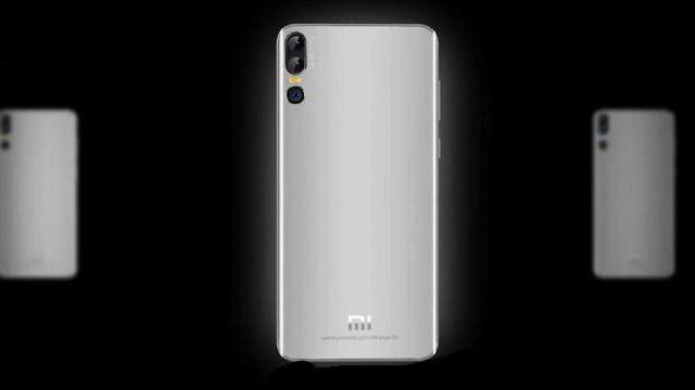 小米8周年纪念版真机渲染图曝光:屏下指纹+后置三摄像头