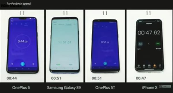 流畅度测试:一加6比iPhone X快多了