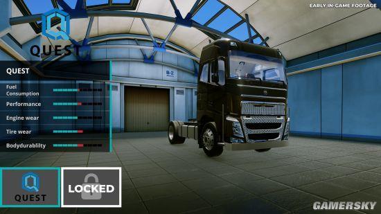 开车模拟游戏《卡车司机》公布:拉货交际两不误