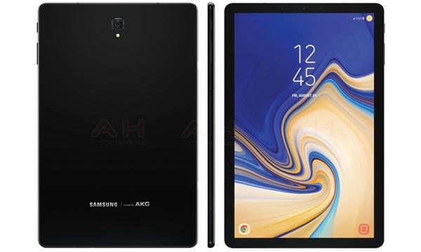 三星Galaxy Tab S4外观曝光:正面无实体键、高屏占比