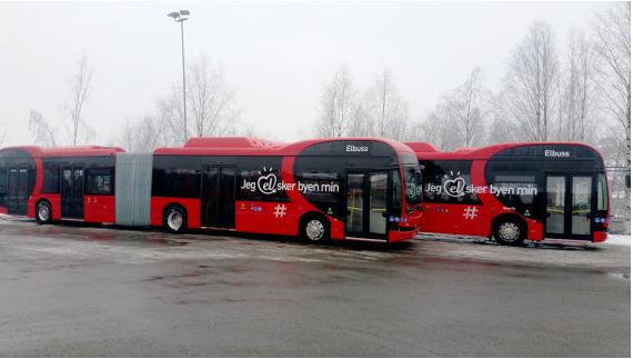 比亚迪打造北欧最大纯电动铰接大巴车队