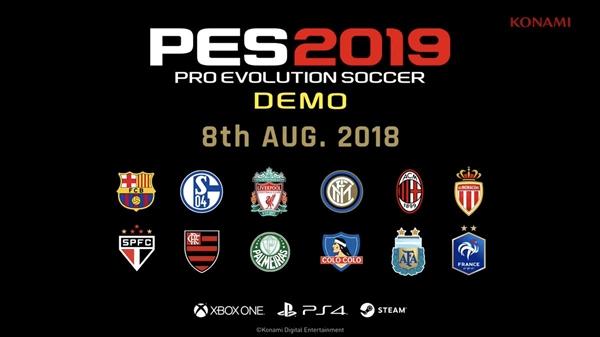 《实况2019》试玩版将于8月8日上线:含巴萨在内12支球队