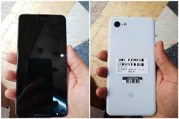 谷歌Pixel 3 XL刘海屏工程机曝光:首次支持无线充电