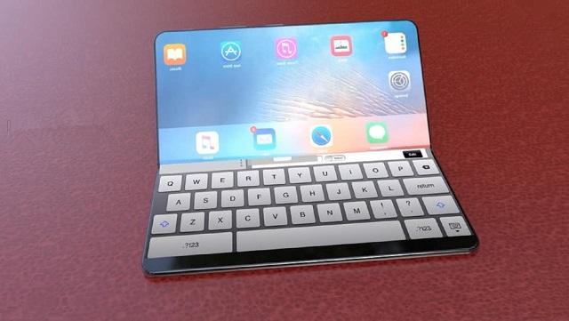可折叠iPhone概念设计图:手机可折叠秒变笔记本