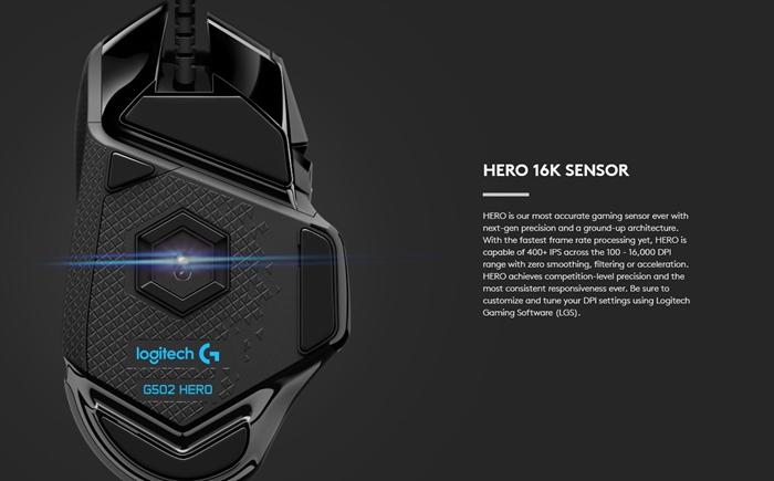 罗技推出新款G502 HERO鼠标:传感器更换、没有减重