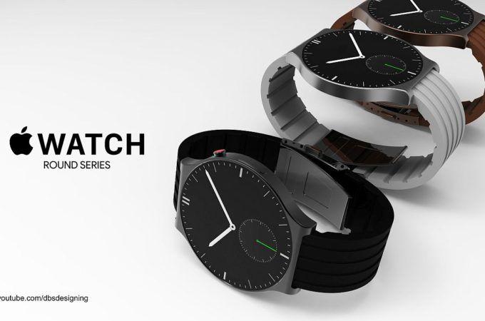 最新的Apple Watch概念图: 圆形设计机身更薄