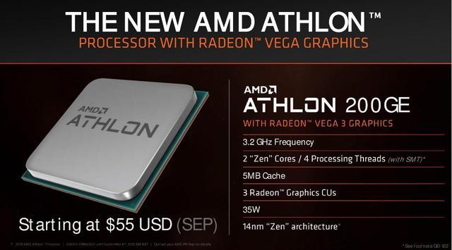 AMD新一代Athlon速龙处理器正式发布 Intel奔腾系列危险了