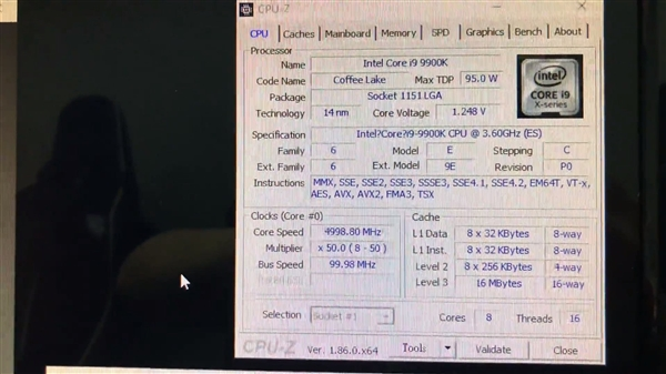 i9-9900K CineBench R15跑分曝光:10核心i9-7900X