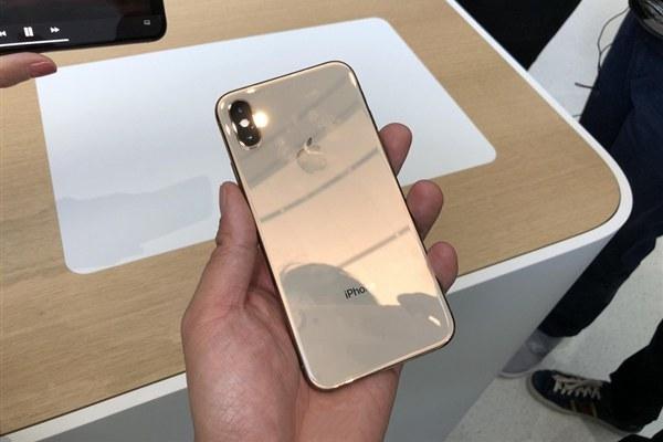 iPhone XS金色版真机图赏 COP封装刘海屏
