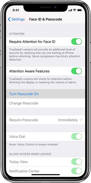 iPhone XS如何设置密码 iPhone Xs提示无法更改密码怎么办?