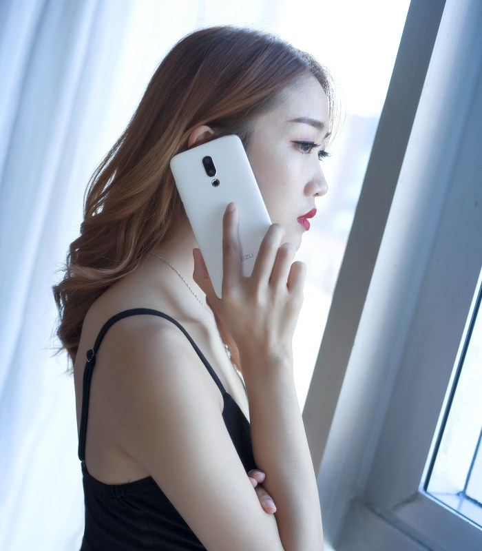 魅族16X汝窑白美女图赏 手机真美人更美!(5/10)
