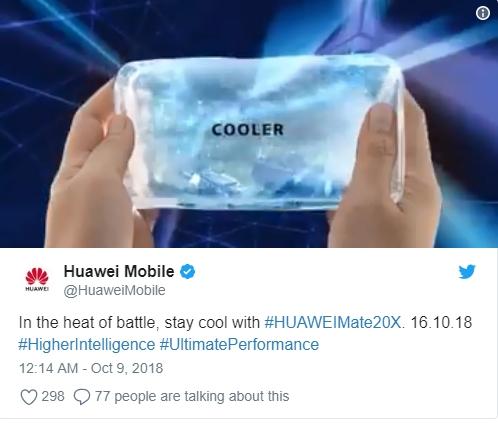 10月16日见!华为海外预热Mate 20X新机:发力/p游戏性能和散热
