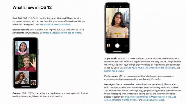 苹果为iOS 12.1更新了iPhone用户指南:双卡全部激活