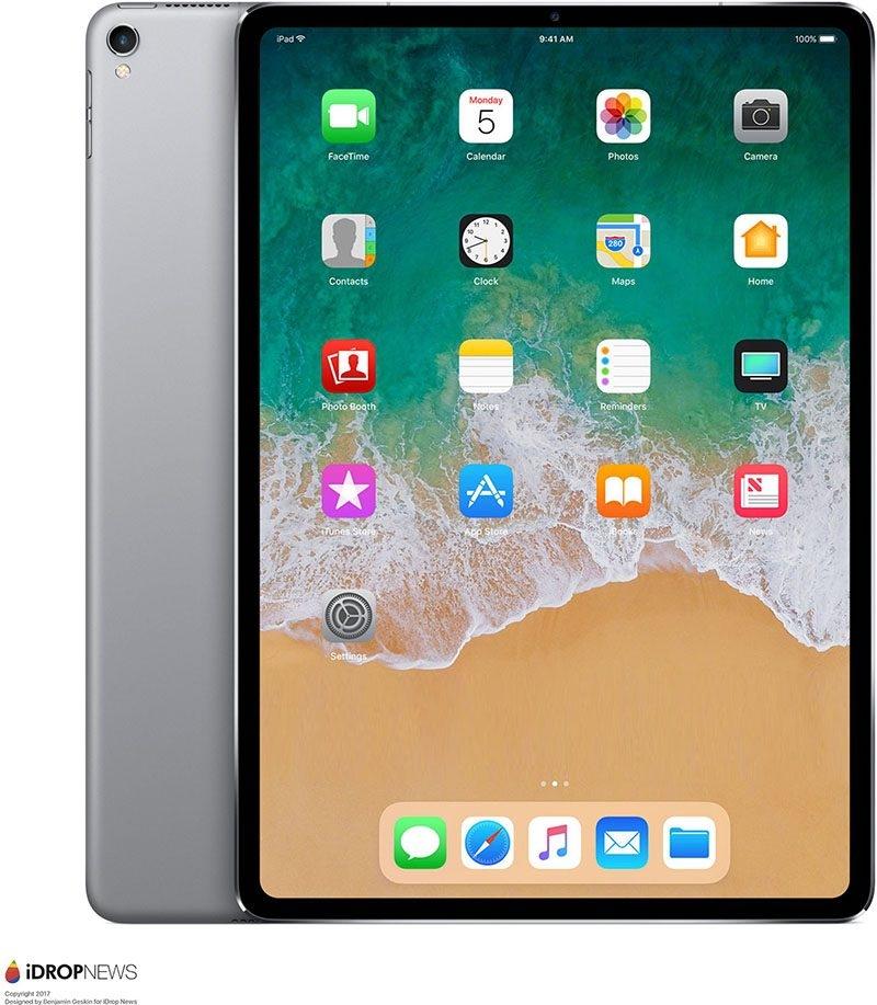苹果新一代iPad Pro外形曝光:无刘海全面屏 屏占比提升