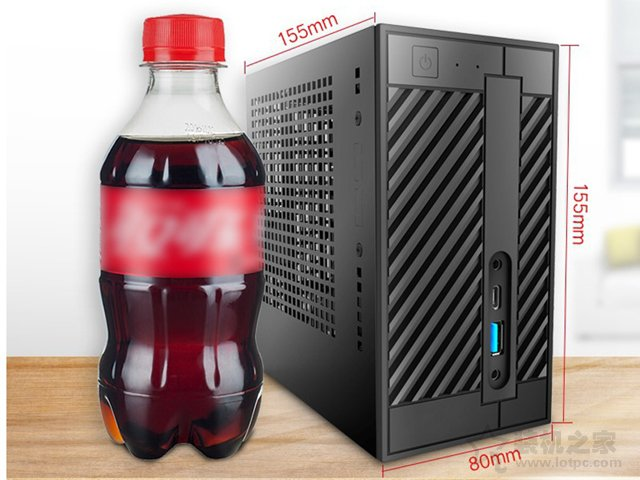 300毫升可乐瓶高度Mini主机!intel四核i3-8100超迷你主机配置推荐