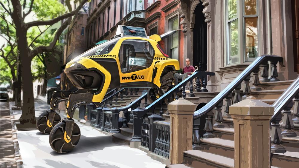 不要飞就要会走的 CES大展现代汽车新型步行汽车惊艳亮相