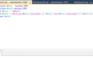 SQL Server数据库中Substring函数的用法实例详解