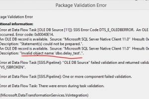 SQL数据库开发中的SSIS 延迟验证方法