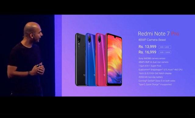 红米Note7 Pro在印度正式发布 搭载索尼4800万摄像头