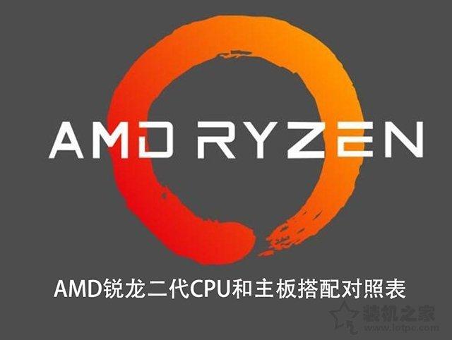 CPU和主板怎么搭配?AMD锐龙二代CPU型号和主板搭配对照表