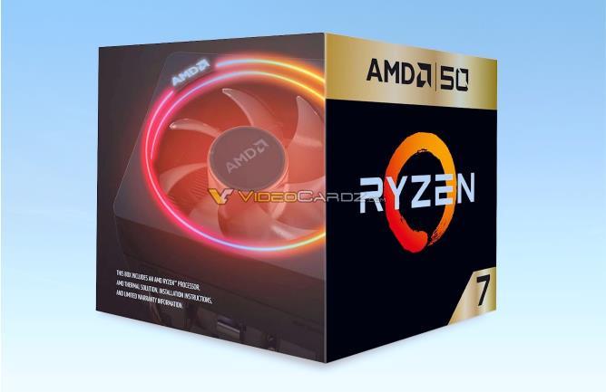 AMD 50周年纪念版锐龙7 2700X产品图曝光:AMD CEO亲笔签名
