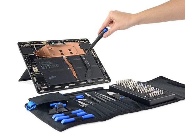 微软Surface Pro X拆解,自己就能换硬盘 可维修性变得更好,
